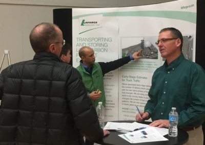 Research partners from the University of Calgary, Queen's University, Pembina Institute, Geocycle, WSP and Millennium -- as well as our Lafarge experts -- were on hand to listen, provide updates and record questions.